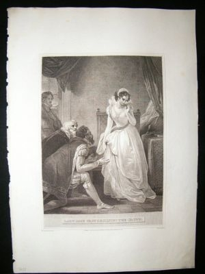 Antique Lady Jane Grey declaring the Crown 1793 Folio Antique P