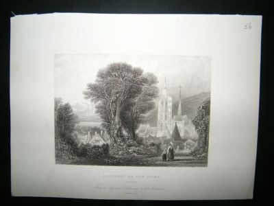 Antique France: 1834 Caudebec On The Seine Print.