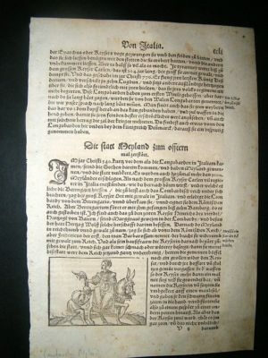 Antique Munster: C1570 Woodcut. Lombardy, Milan Italy, Horse.