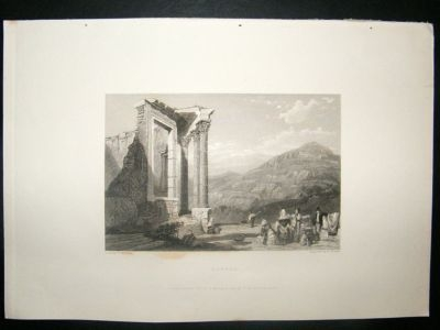 Antique Italy: 1834 Steel Engraving, Tivoli Print