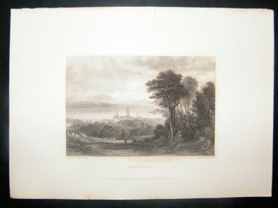 Antique Switzerland: 1834 Steel Engraving, Lausanne Print