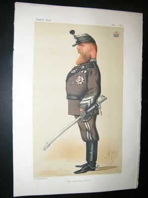 Antique Vanity Fair Print: 1875 Viscount Ruby, Military