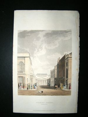Antique UK: 1822 Hand Coloured Print. Charles Street London, Ac