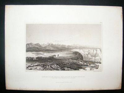 Antique Canada: 1828 steel engraving, Mount Conybeare