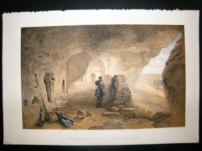 Antique Simpson Crimea 1856 Church at Inkermann 33. Ukraine Fol
