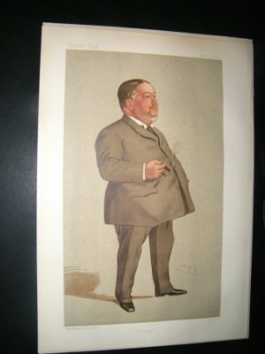 Antique Vanity Fair Print: 1892 Jabez Spencer Balfour