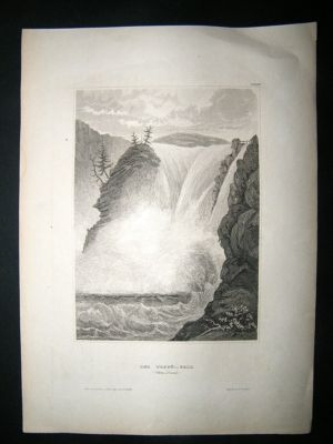 Antique Sweden:C1840 Steel Engraving, Gota Canal.