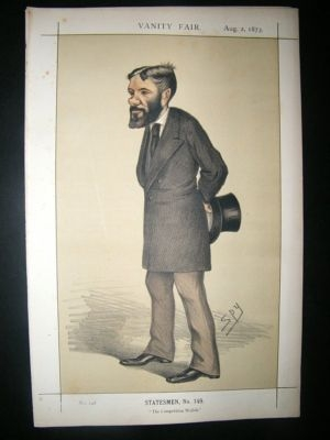 Antique Vanity Fair Print: 1873 George Otto Travelyan