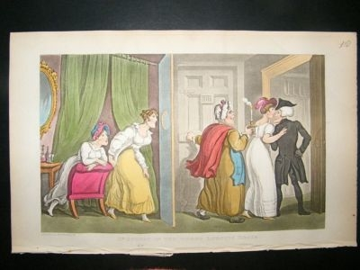Antique Dr Syntax by Rowlandson 1855 Wrong Lodging House