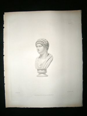 Antique Sculpture: 1845 Bust Of Domitia? British Museum