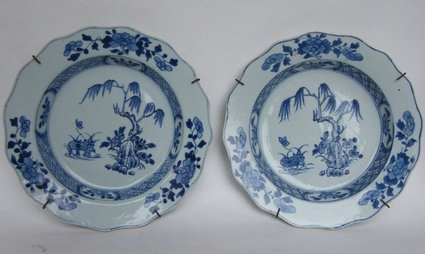 704. Pair Quianlong Period Chinese Porcelain Plates 18th Ct