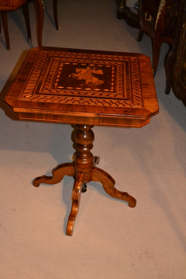 Antique Sorrento Italian Occasional Table 1860