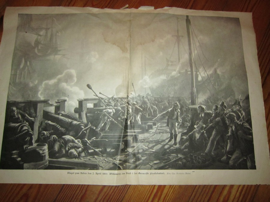 Antique Battle of Copenhagen 1801