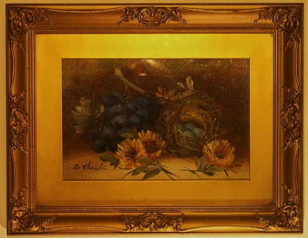 Antique A wonderful 19th century pair of signed Elizabeth Chester still life paintings in glazed gilt frames