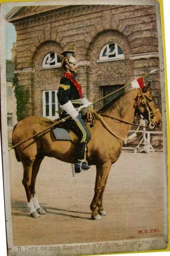 Antique 5th ROYAL IRISH LANCERS Ppost Card