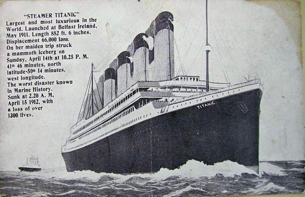Titanic POST CARD
