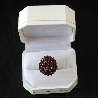 Antique 19th Century Garnet Cluster Ring
