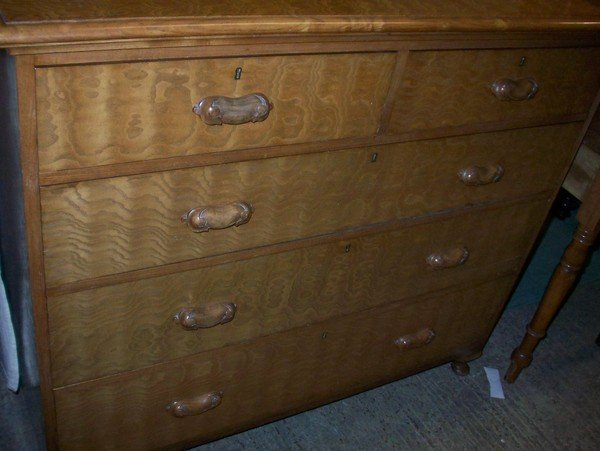 Antique 19th.Century Ash Chest Of Drawers.