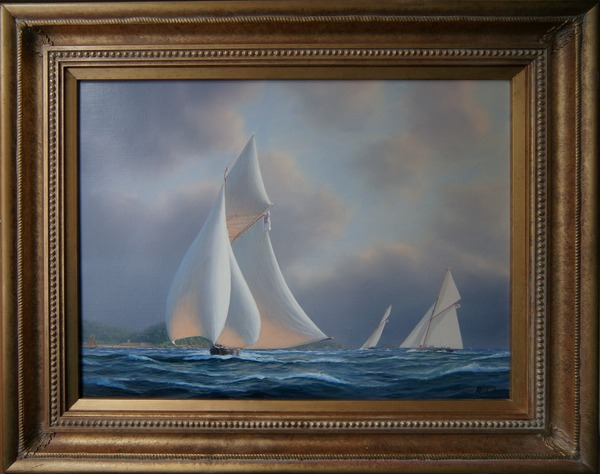 Antique Tim Thompson oil painting