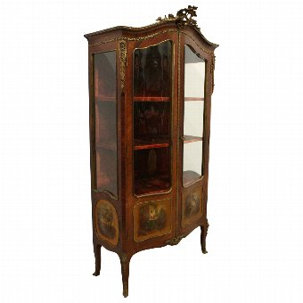 Antique French Kingwood Vernis Martin Cabinet