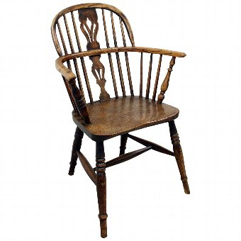 Antique Victorian Elm Windsor Chair