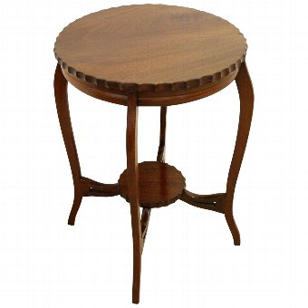 Antique Small Mahogany Circular Occasional Table