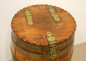 Antique Oak Ships Barrel
