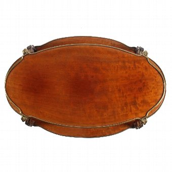 Antique Victorian Mahogany Oval Two Tier Étagère