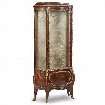 Antique French Kingwood Vitrine Display Cabinet