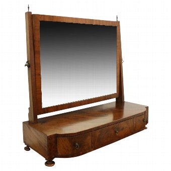 Antique George IV Mahogany Toilet Mirror