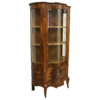 Antique French Louis XV Style Kingwood Display Cabinet