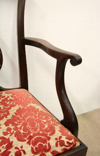 Antique Set of 8 Chippendale Style Mahogany Dining Chairs