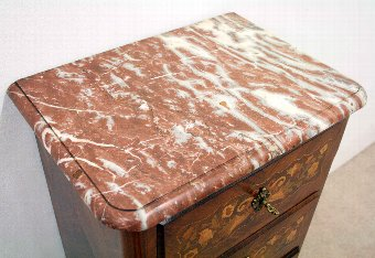 Antique French Marble Top Secretaire Chest