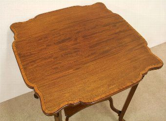 Antique Sheraton Style Mahogany Inlaid Occasional Table