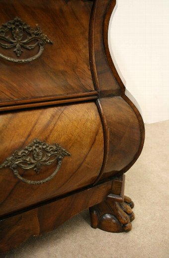 Antique Dutch Walnut Bombé Chest of Drawers