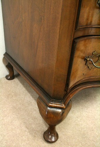 Antique George I Style Shaped Front Chest of Drawers
