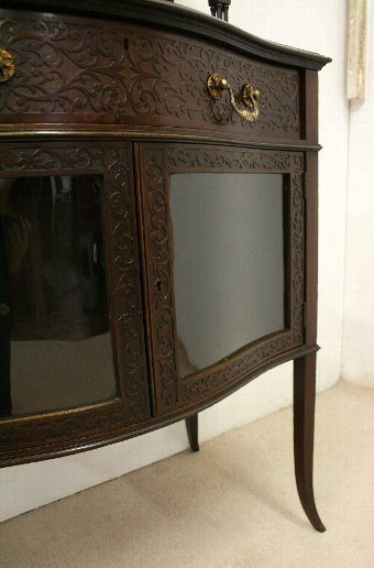 Antique Late Victorian Mahogany Bijouterie/Display Cabinet