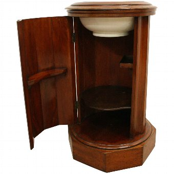 Antique Victorian Cylindrical Bedside Locker