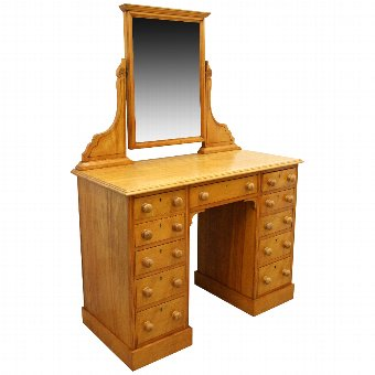 Antique Late Victorian Satinwood Dressing Table