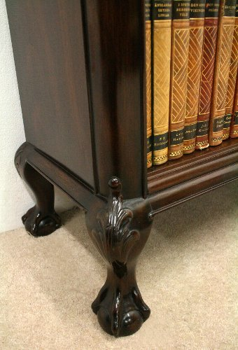 Antique Scottish Carved Mahogany Open Bookcase