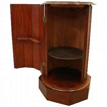 Antique Mid Victorian Cylinder Pot Locker