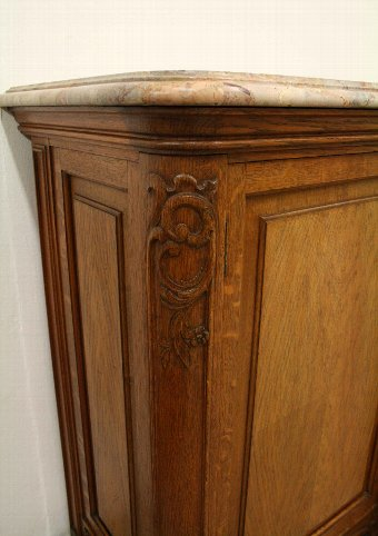 Antique Whytock & Reid Oak Marble Side Cabinet