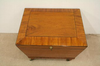 Antique George IV Mahogany and Ebonised Inlaid Wine Cooler