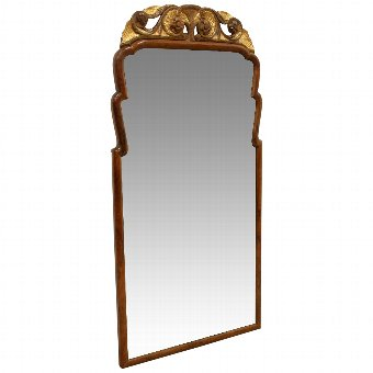 Antique George III wall mirror.