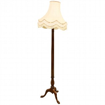 Antique George III Style Column Lamp