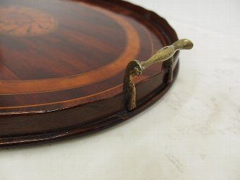 Antique Oval Georgian Style Tea Tray