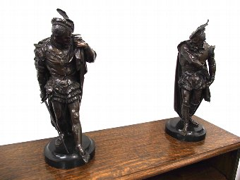 Antique Pair of Bronze Gentlemen