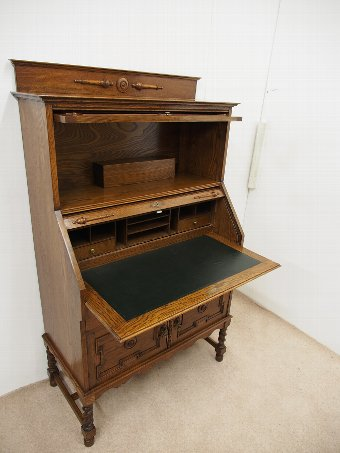 Antique Oak Bureau Bookcase
