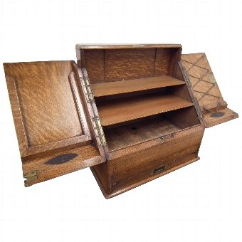 Antique Oak Stationery Cabinet