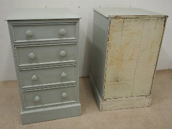 Antique Pair of Victorian Pine Chest of Drawers